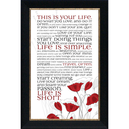 Artistic Reflections This Is Your Life by Tonya Framed Graphic Art
