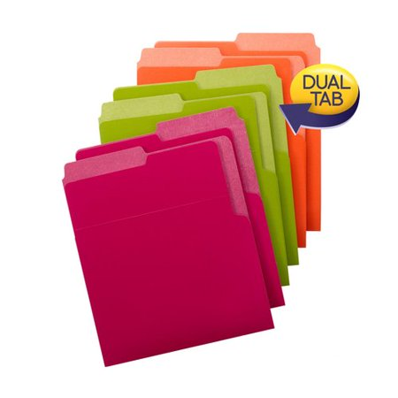 Smead Organized Up Heavyweight Vertical File Folders, Assorted Colors, Count 6