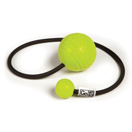 GoBall Therapeutic Massage Ball on a Rope with Therapy Poster - Green ()
