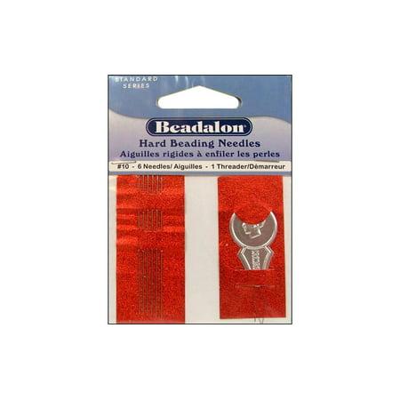 Beadalon Beading Needle Hard Size 10 6pc