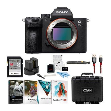 Sony a7 III Full Frame Mirrorless Interchangeable Lens Camera Essentials Kit
