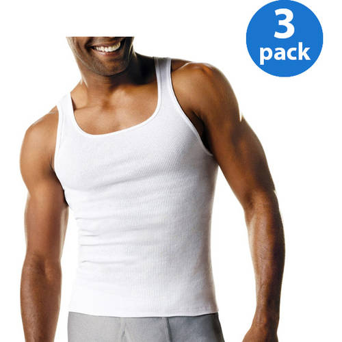 Hanes Big and Tall Men's 3 Pack A-Shirt