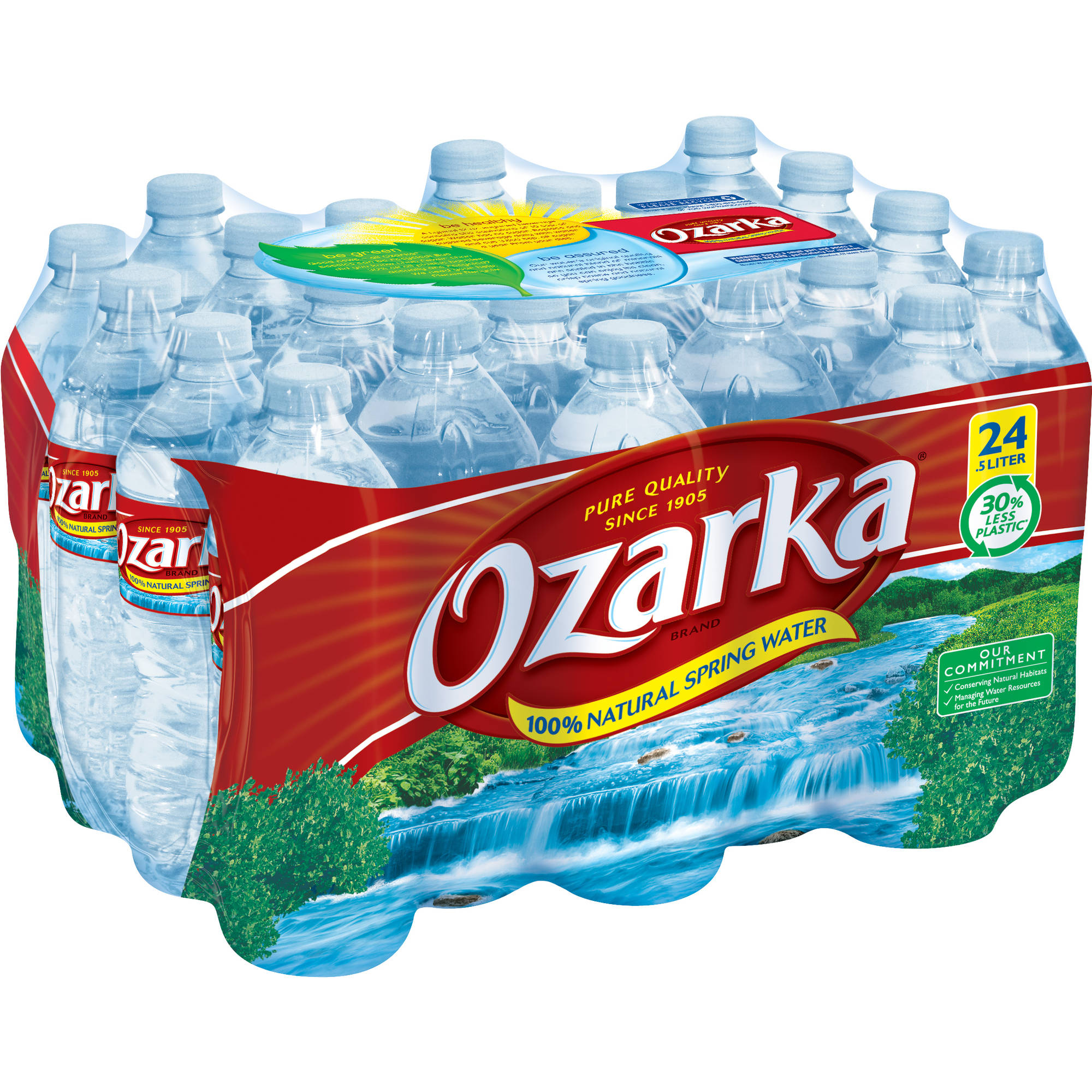 Ozarka 100% Natural Spring Water, 0.5 l, 24 ct
