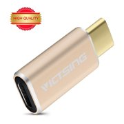 VicTsing USB 3.1 Type-C to Micro USB Convert Connector ,Support Data Transfer and Charging, for MacBook 12inch 2015, OnePlus 2, and other Type-C Supported Smart Phones and Tablet-Yellow