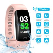 FitnessTracker, EEEKit Activity Tracker Smart Watch with Heart Rate & Sleep Monitor, IP68 Waterproof, All-Day Activity Tracking, Multi-Sport Modes & Connected GPS for Kids Women and Men