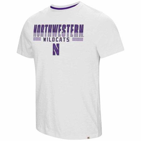 Northwestern Wildcats Adult NCAA Million Dollar Arm Short Sleeve T-Shirt  - White
