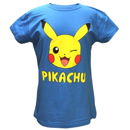 Pokemon Juniors Pikachu Character Turquoise Shirt