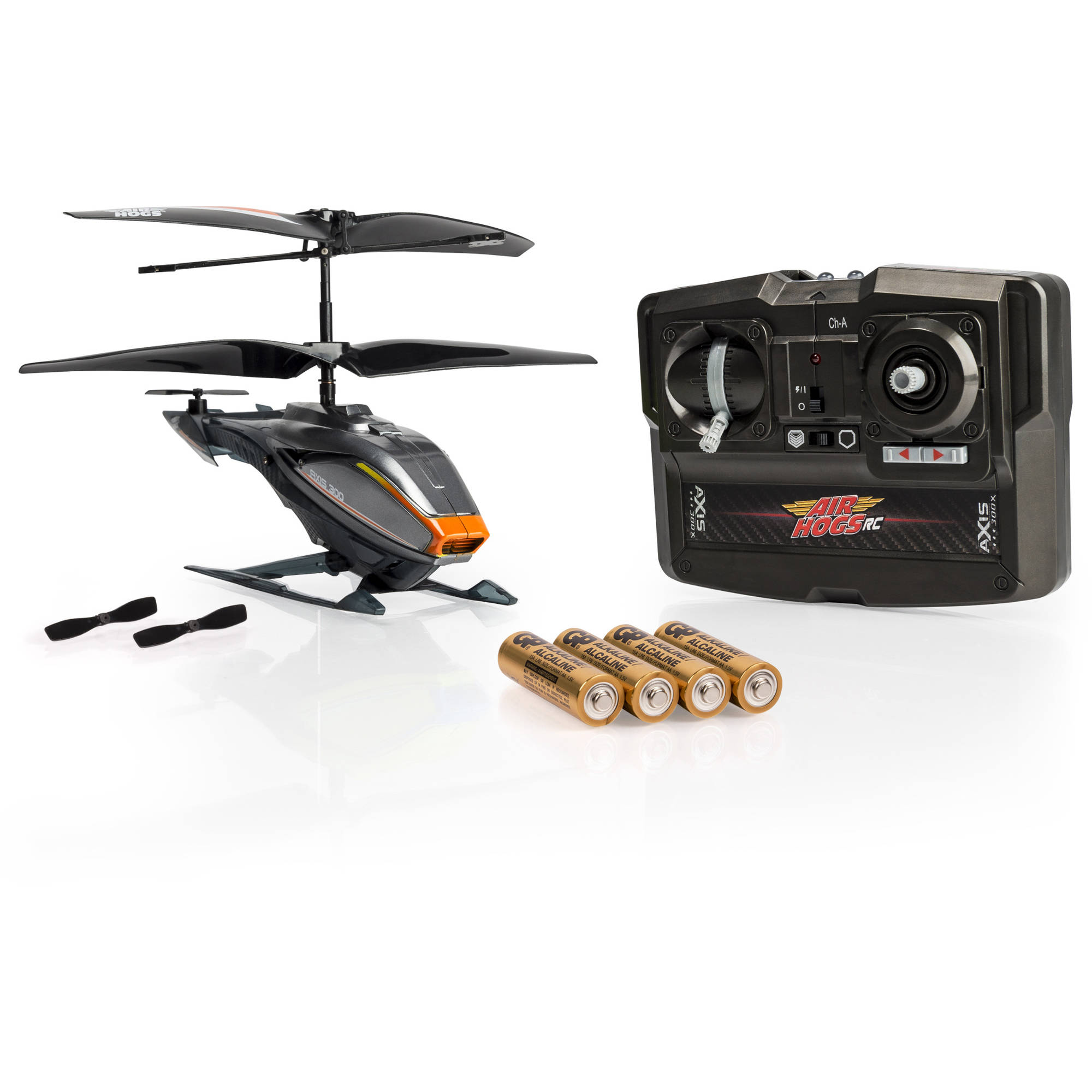 Air Hogs RC Axis 300X, Gray R/C Helicopter with Batteries