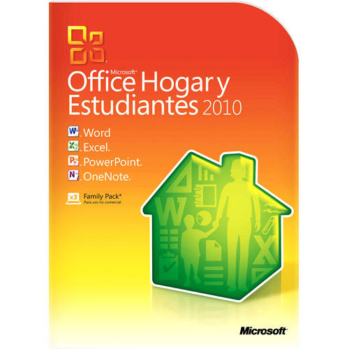 Microsoft Office Home and Student 2010 (3 PC / 1 Household - Disc) - Spanish