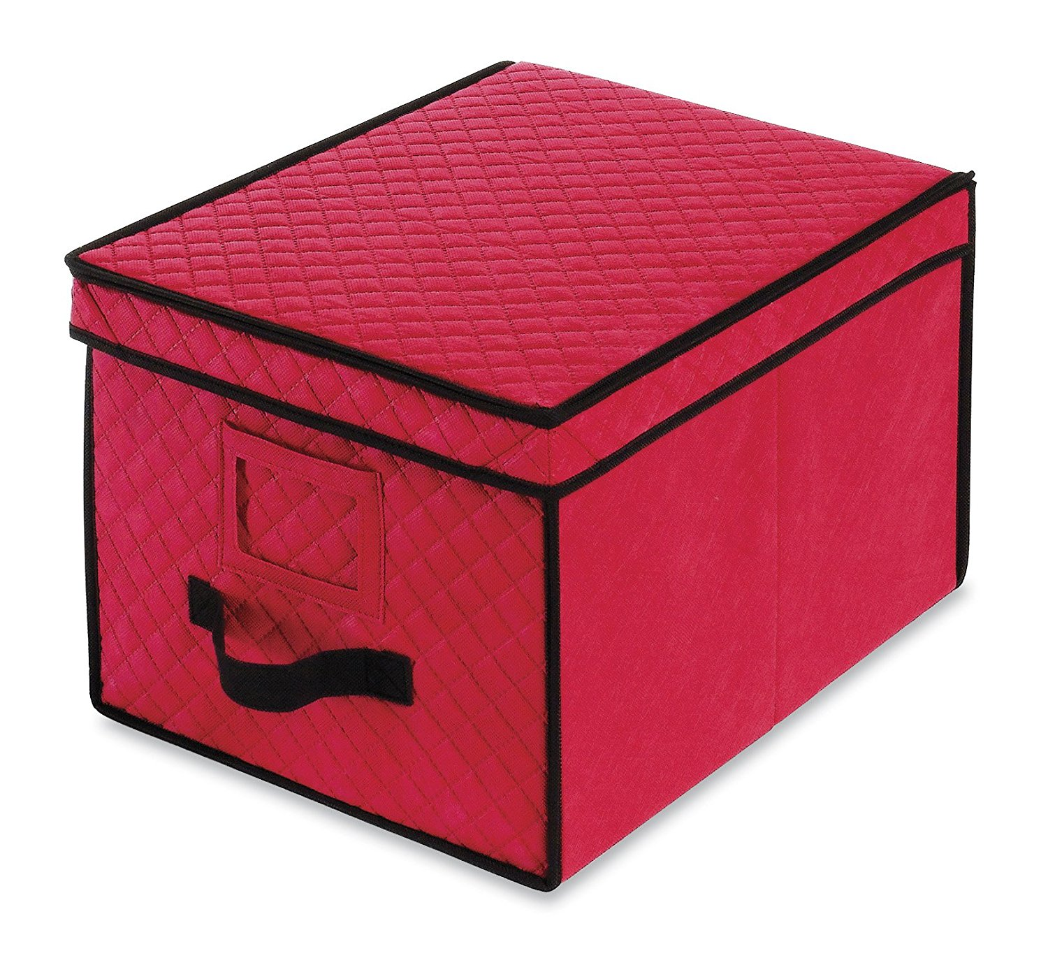 6129-2688 Ornament Storage Box, 61295340 Christmas Large Box compartments Case Red Gift Storage Cube Ornament 61292688... by