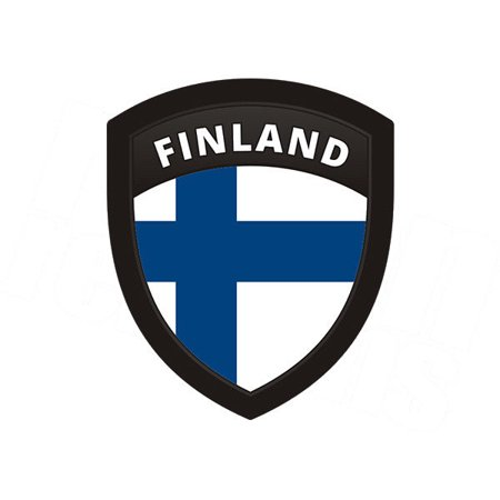(Finland Flag Shield Badge Finnish Motorcycle Vinyl 4