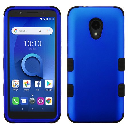 TUFF Hybrid (Military Grade Certified) Phone Protector Cover Case for Alcatel TCL LX - Blue - Blue Phone Protector Case