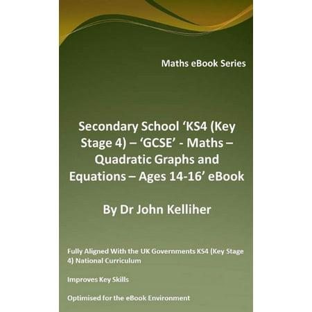 Secondary School 'KS4 (Key Stage 4) – 'GCSE' - Maths – Quadratic Graphs and Equations – Ages 14-16' eBook -