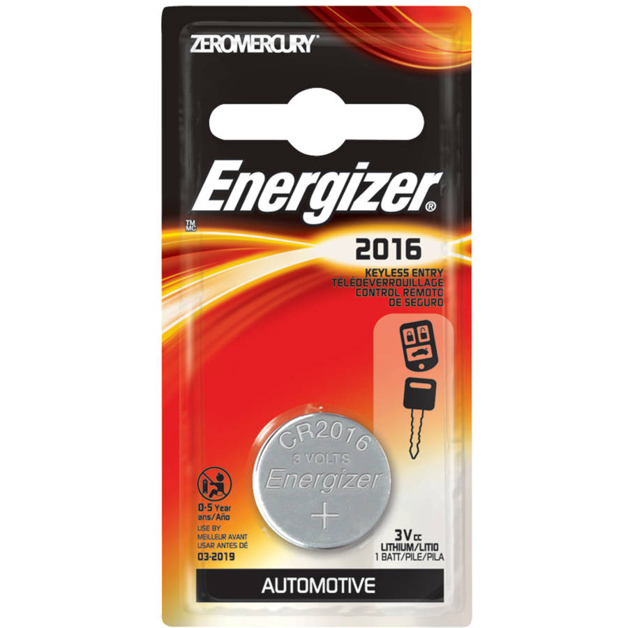 Energizer 2016 Lithium Coin Battery, 1-Pack