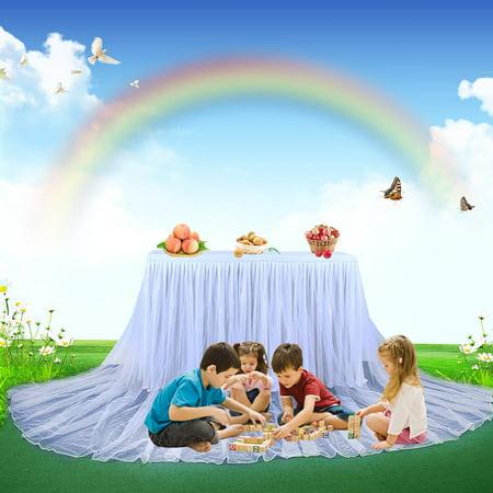 Mesh Gauze Table Skirt Tulle Table Yarn Skirt Wedding Celebration Supplies - image 9 of 9