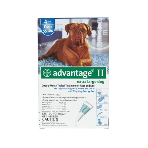 Advantage Flea Control for Dogs And Puppies Over 55 lbs 4 Month Supply by Advantage