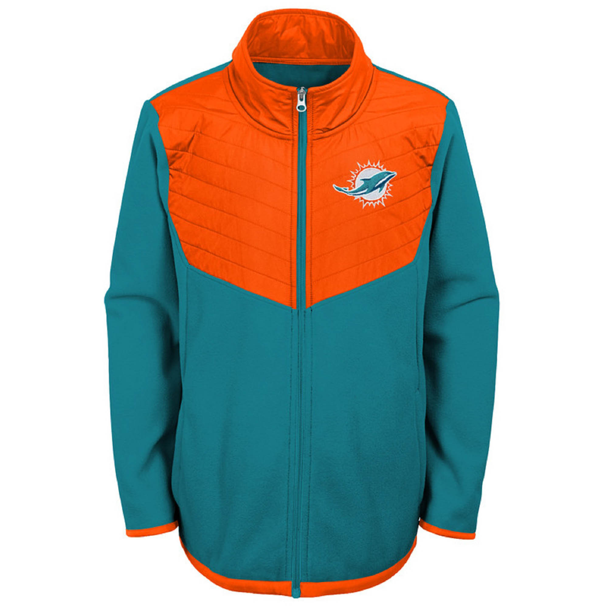 Hot Youth AquaOrange Miami Dolphins Polar Full Zip Jacket  for cheap