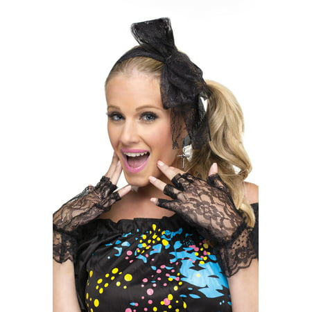 Decades Instant Costume Kit (80's Pop Star) (80's Halloween Costume. Blow Up Head)