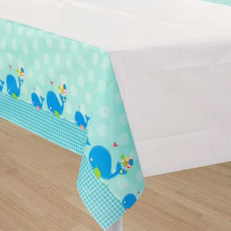 Baby Shower Ahoy Baby Paper Table Cover 1ct Walmartcom
