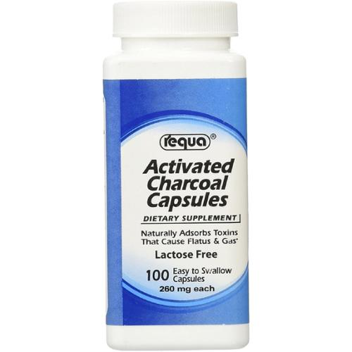 Requa Activated Charcoal Capsules 100 ea (Pack of 2)