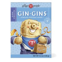 Gin Gins, Super Strength Ginger Candy, 4.5 Oz