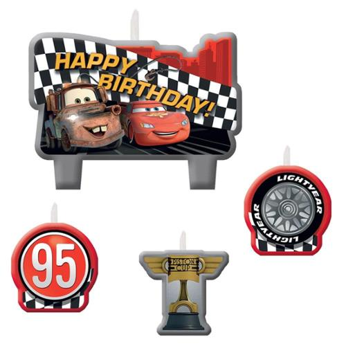 Disney Cars Candle Set (4 Pack) - Party Supplies