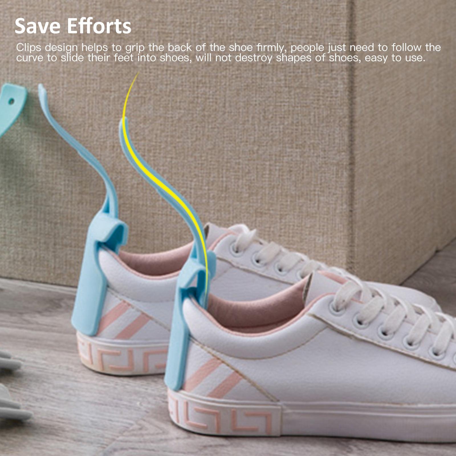 Unisex Handled Shoe Horn Easy On//Off  Lazy Shoe Helper 2 x Shoe Lifting Helper