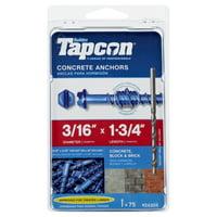 Buildex Tapcon 24305 Concrete Screw Anchor, 3/16 in Drive