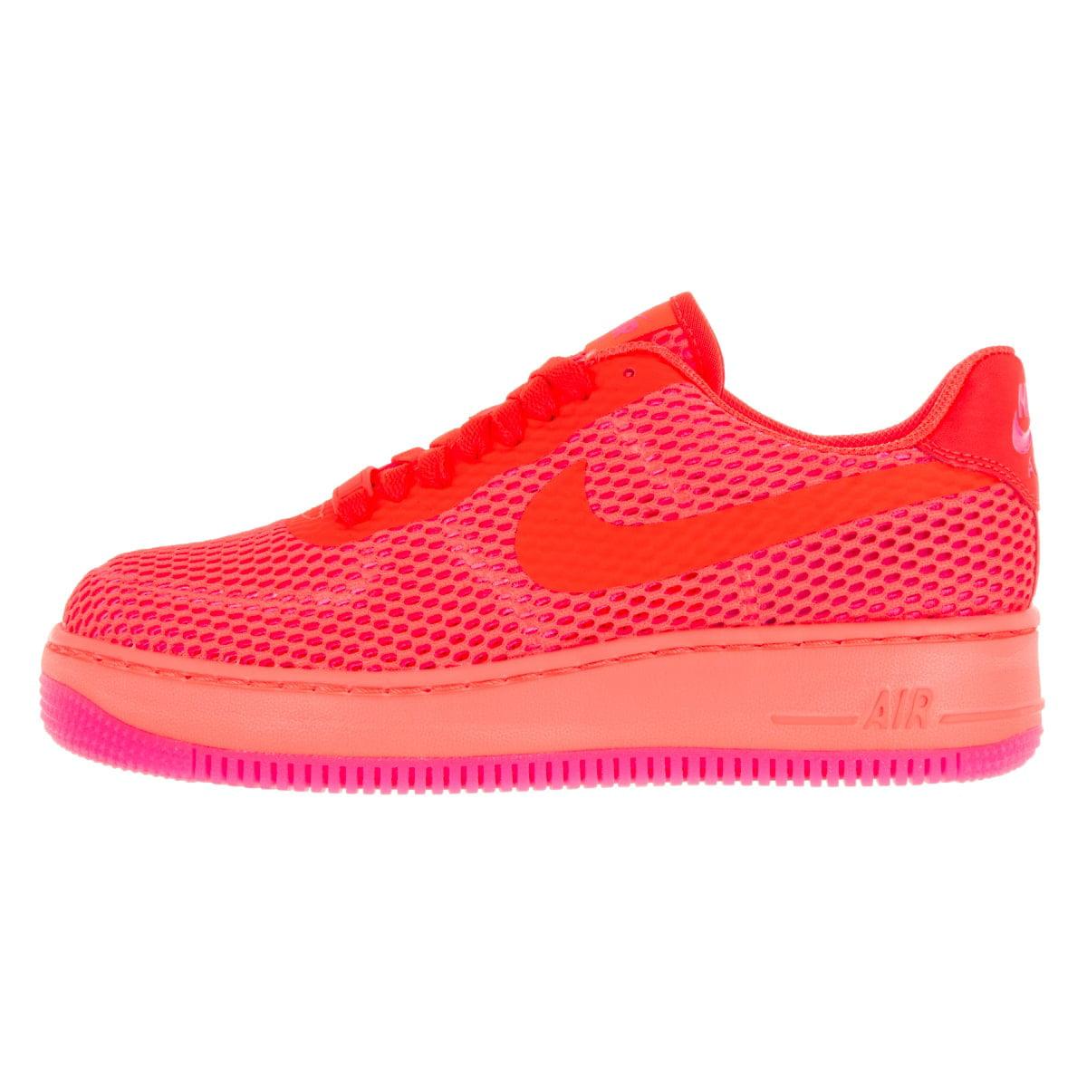 nike womens af1 low upstep br total crimson/total crimson casual shoe 9 women us