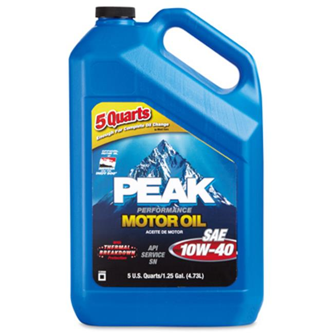 Peak P4M015 4. 47 x 12. 49 inch 10W40 Motor Oil - 5 Quart, Pack Of 3