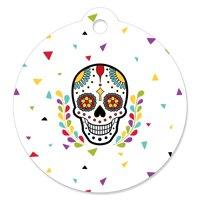 Day Of The Dead - Halloween Sugar Skull Party Gift Tags (Set of 20)