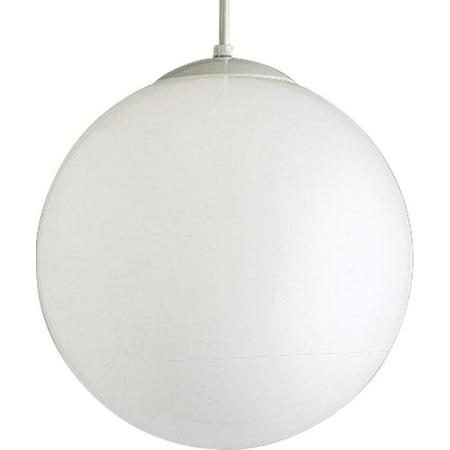 Opal Cased Globe Pendant - Progress Lighting P4406 Globe Single Light 14