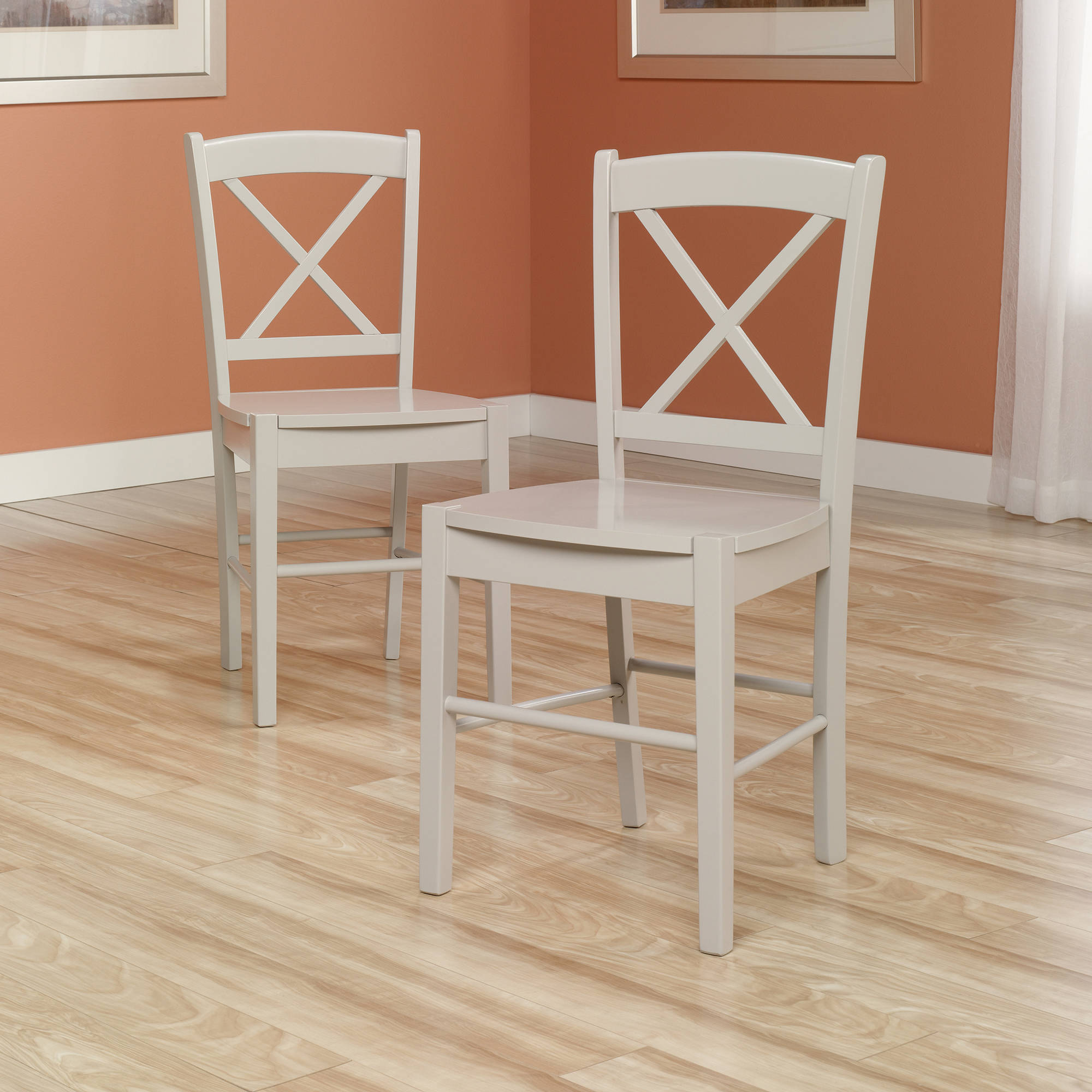 Sauder Original Cottage Cross-Back Chairs, Set of 2, Multiple Colors
