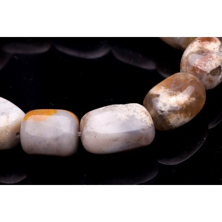 Crazy Agate Beads - Tumbled Pebble Crazy Lace Agate Beads Semi Precious Gemstones Size: 16x13mm Crystal Energy Stone Healing Power for Jewelry Making