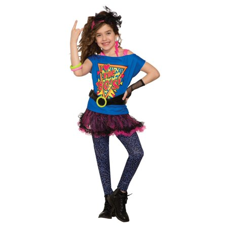 Girls Totally 80's Halloween Costume](80's Halloween Costume. Blow Up Head)