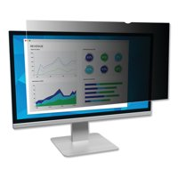"""3M 23"""" Privacy Filter for Widescreen Monitor, Black"""