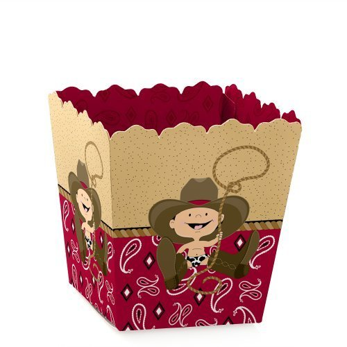 Little Cowboy - Western Party - Party Mini Favor Boxes - Baby Shower or 1st Birthday Party Treat Candy Boxes - Set of 12