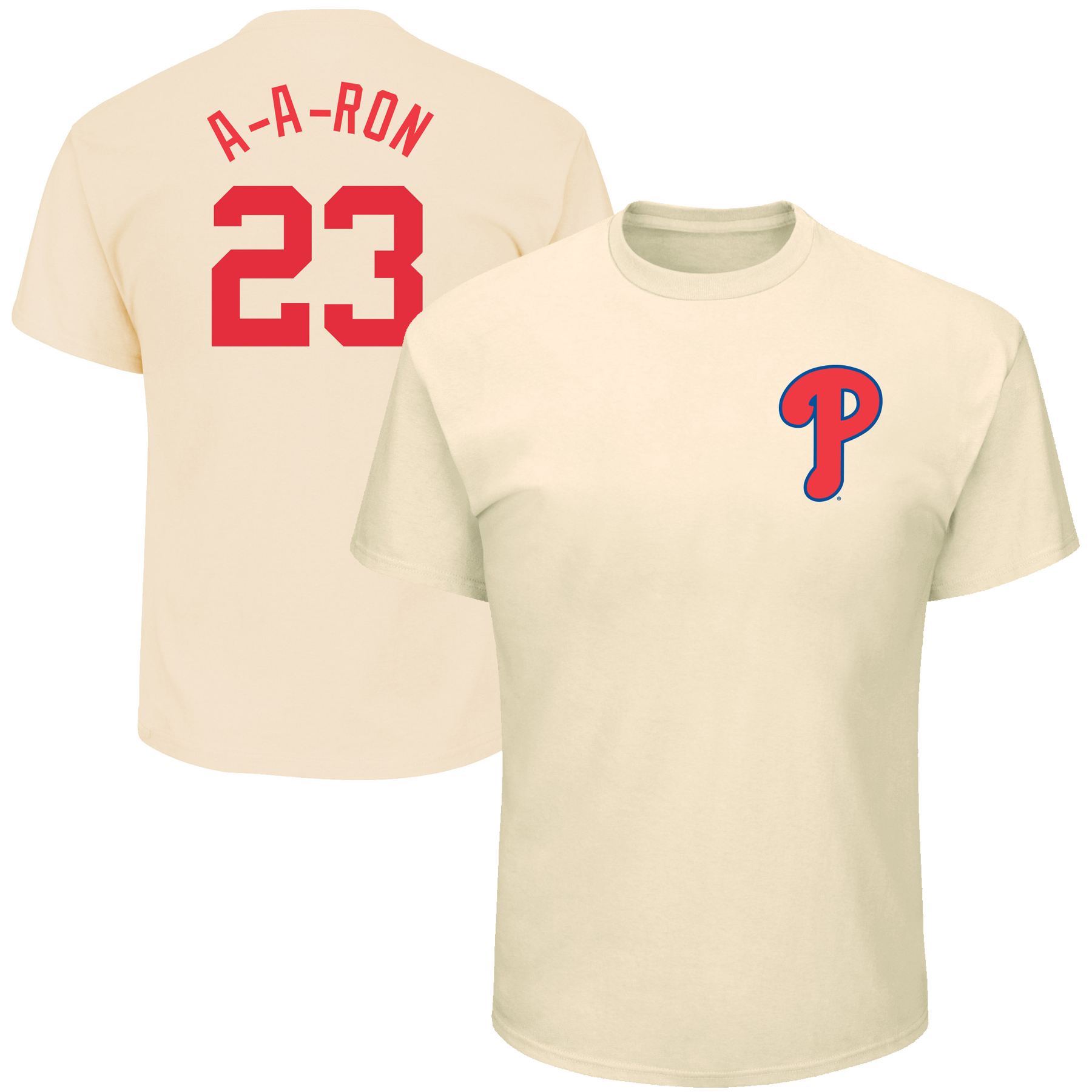 """Aaron Altherr """"A-A-Ron"""" Philadelphia Phillies Majestic Youth 2017 Players Weekend Name & Number T-Shirt - Cream"""