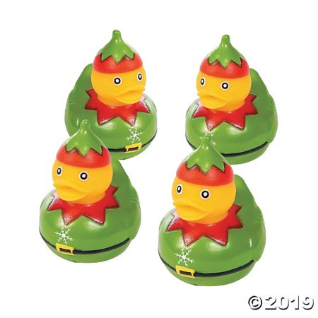 Christmas Rubber Duckies (Christmas Elf Rubber Duckies - 12)