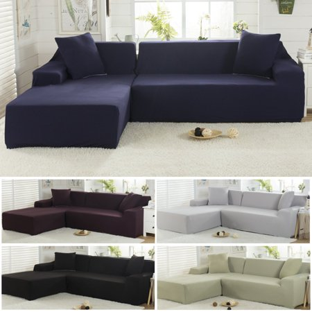 L Shaped 3 Seats Sofa Covers Polyester