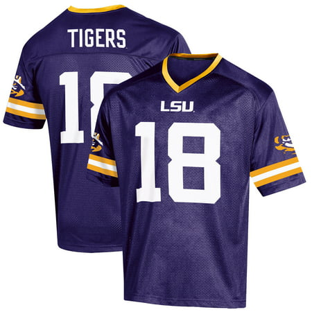 Pink Replica Football Jersey - Youth Russell Purple LSU Tigers Replica Football Jersey
