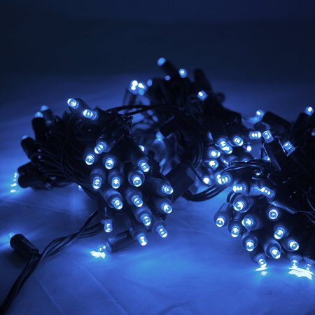 Commercial Grade Wide Angle Led Christmas Lights 200 Bulbs 65 Ft Long Blue