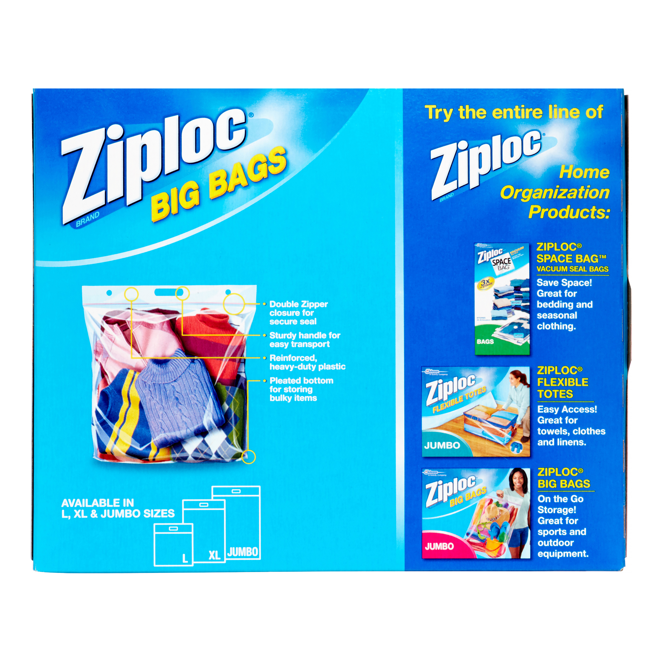 Ziploc bags for storing clothes