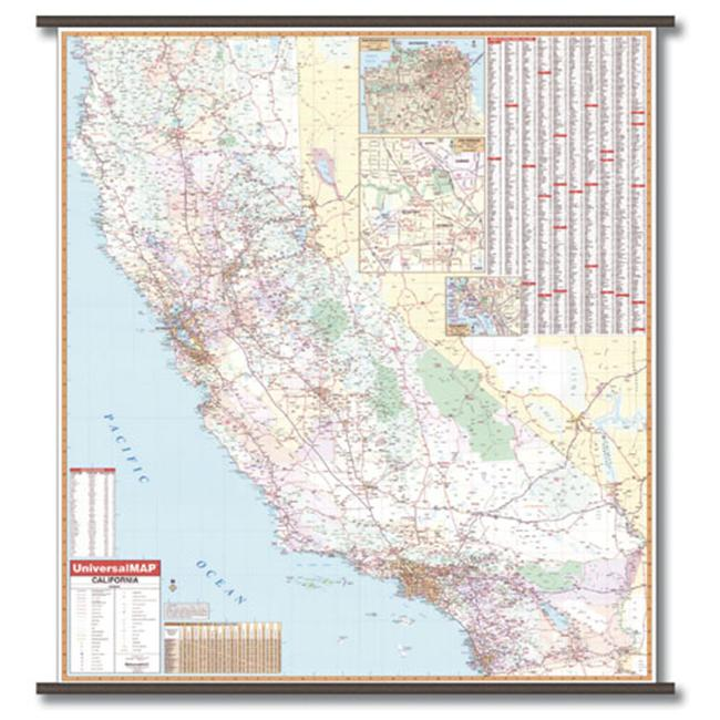 Universal Map 19336 California Wall Map - Backboard - image 1 de 1