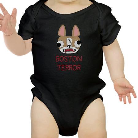 Boston Terror Terrier Funny Halloween Baby Bodysuit Cotton Baby Gifts - Halloween Events In Boston
