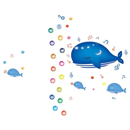Bedroom Art Decor Blue Whale Pattern Removable Wall Sticker Decal - image 3 of 3