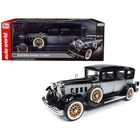 Limited Edition Tanker - 1931 Peerless Master 8 Sedan Black & Silver Limited Edition to 1,500 pcs Worldwide 1/18 Diecast Model Car by Autoworld