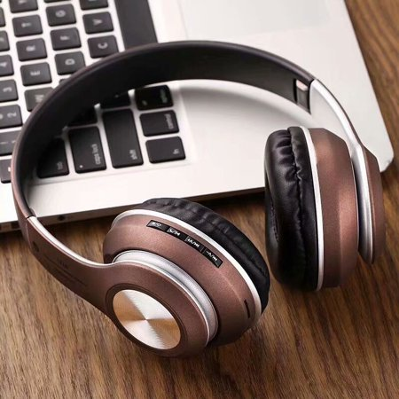 Bluetooth Headphones Active Noise Cancelling, Superior Deep Bass Over-Ear Wireless Headphones with Mic for PC/Cell