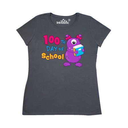 100th day of school- cute purple monster Women's T-Shirt