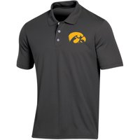 Men's Russell Athletic Black Iowa Hawkeyes Classic Fit Synthetic Polo